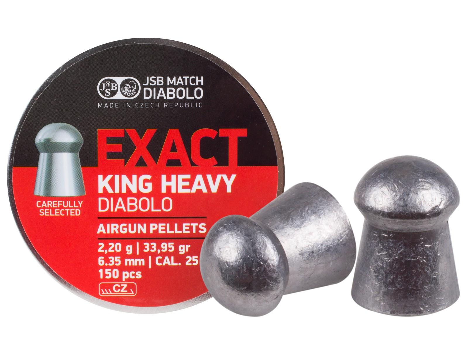 JSB Diabolo Exact King Heavy MKII .25 Cal, 33.95 gr - 150 ct
