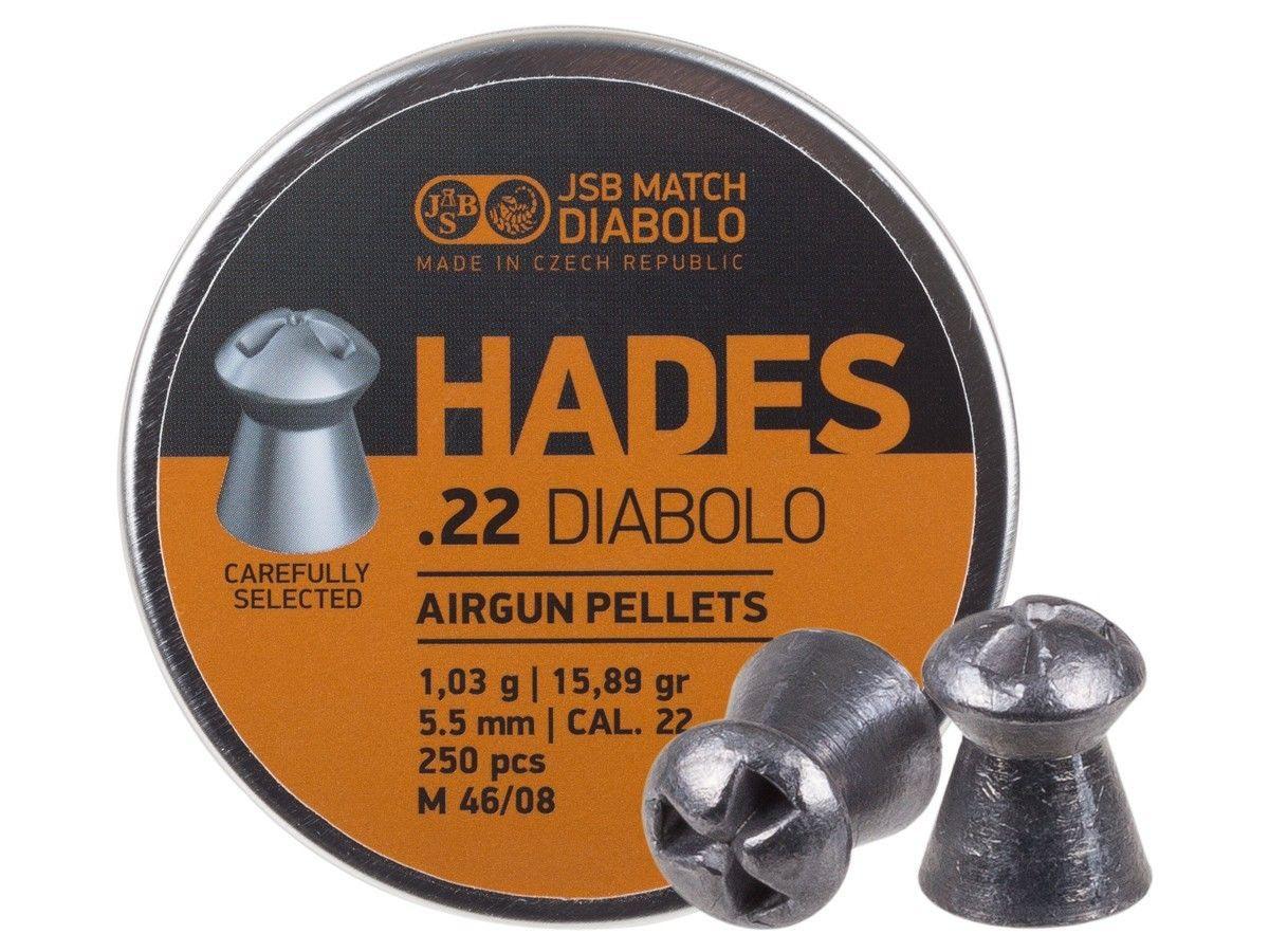 JSB Match Diabolo Hades .22 Cal, 15.89 gr - 250 ct
