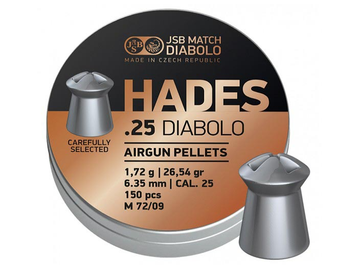 JSB Match Diabolo Hades .25 Cal, 26.54gr - 150 ct