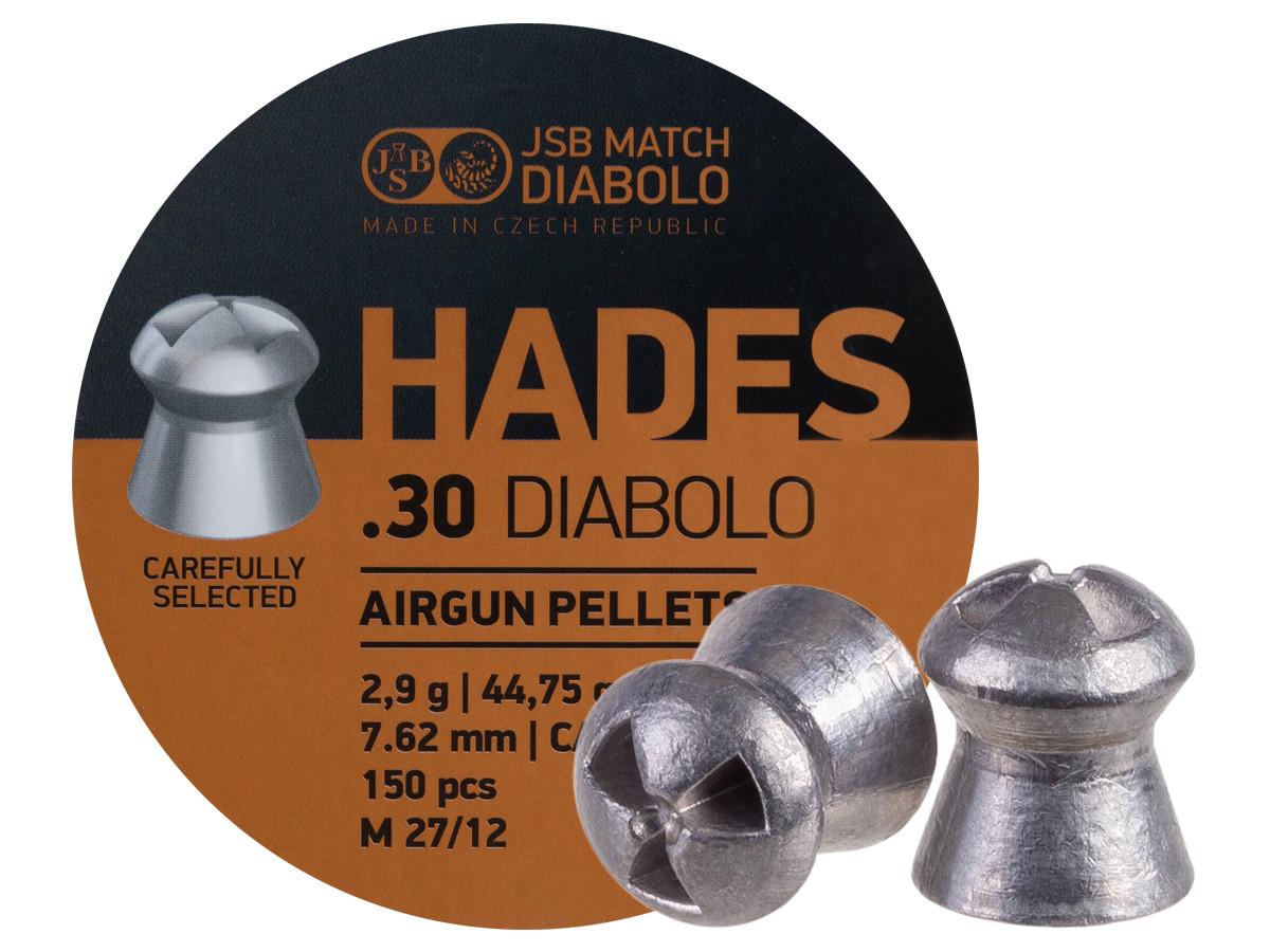 JSB Match Diabolo Hades .30 Cal, 44.75 gr - 150ct