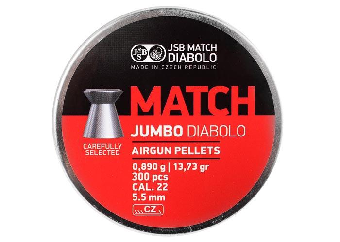 JSB Diabolo Jumbo Match .22 Cal, 13.73 gr - 300 ct
