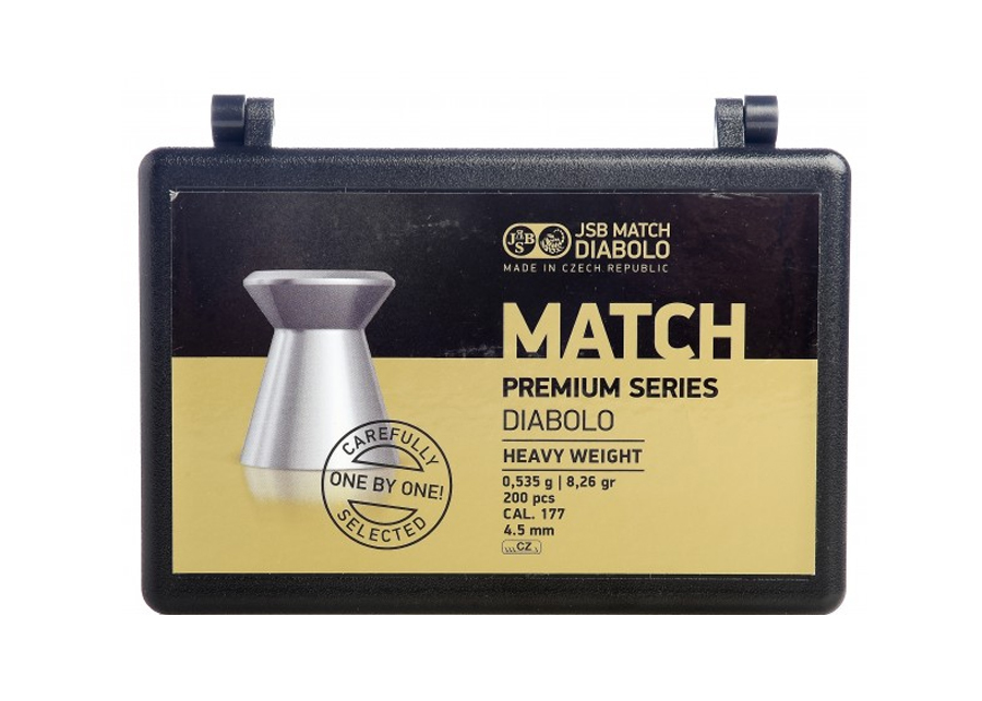 JSB Match Premium Heavy Weight .177 Cal, 8.26 gr - 200 ct