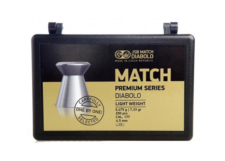 JSB Match Premium Light Weight .177 Cal, 7.33 gr - 200 ct