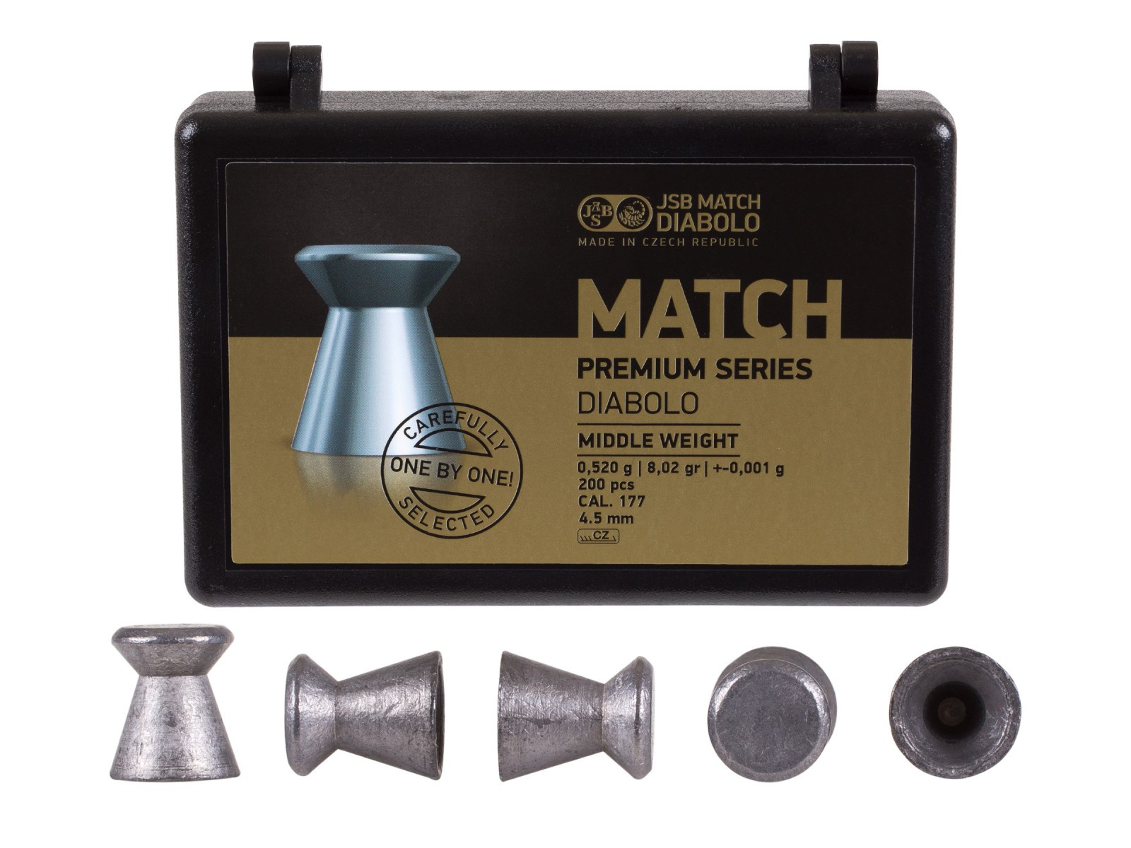 JSB Match Premium Middle Weight .177 Cal, 8.02 gr - 200 ct