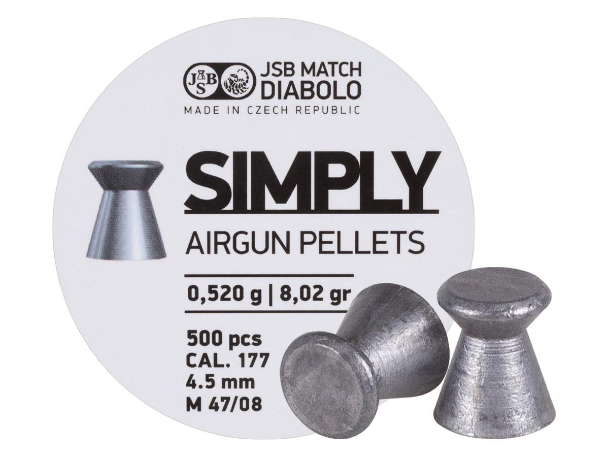 JSB Simply Pellets Wadcutter .177, 8.02gr - 500ct