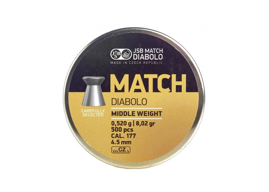 JSB Yellow Match Middle Weight .177 Cal, 8.02 gr - 500 ct