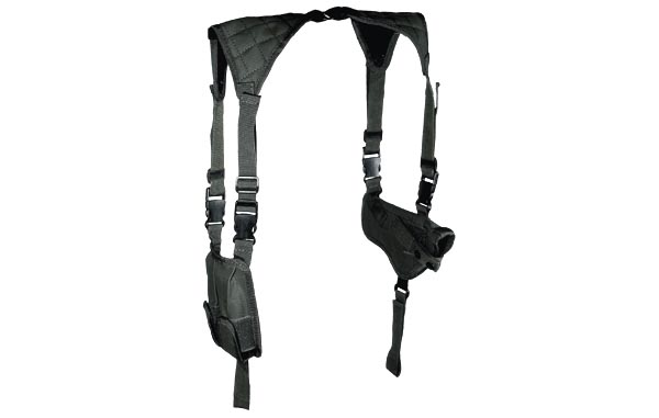 Leapers Deluxe Universal Horizontal Shoulder Holster, Black
