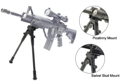 Leapers Deluxe Picatinny Foldable Metal Bipod