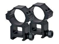 Leapers High 30mm Rings, Weaver, See-Thru