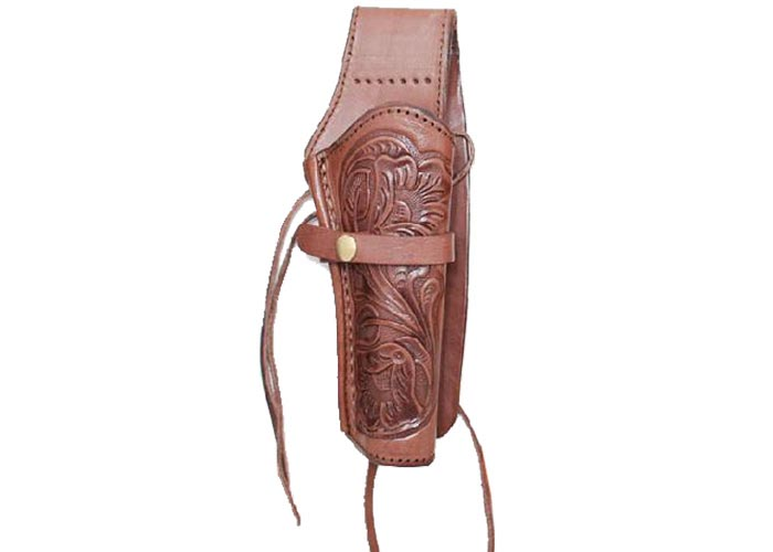 "Western Justice 6"" Leather Holster, Chocolate, Right Hand"