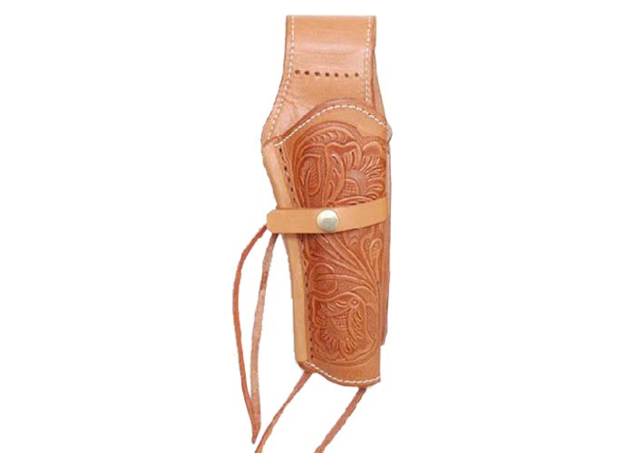 "Western Justice 6"" Leather Holster, Natural, Right Hand"