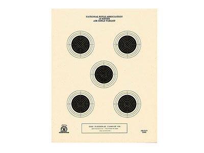 National Target 10m Air Rifle Target, 5 Bull 100 ct