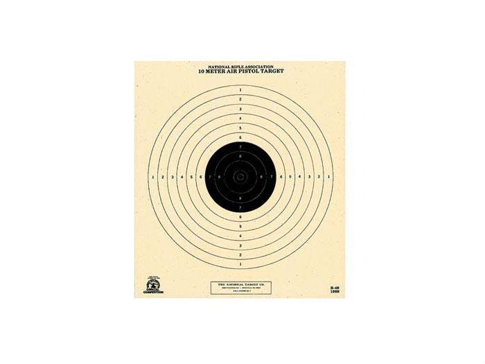 National Target Single 10m Air Pistol Target, 100 ct