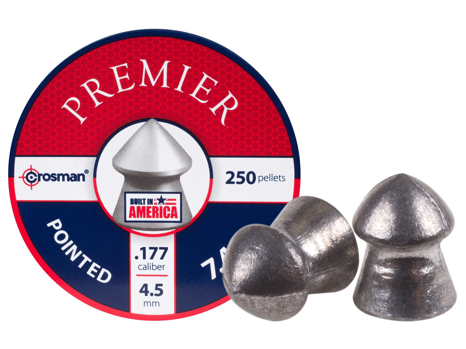 Crosman Pointed .177 Cal, 7.4 gr - 250 ct