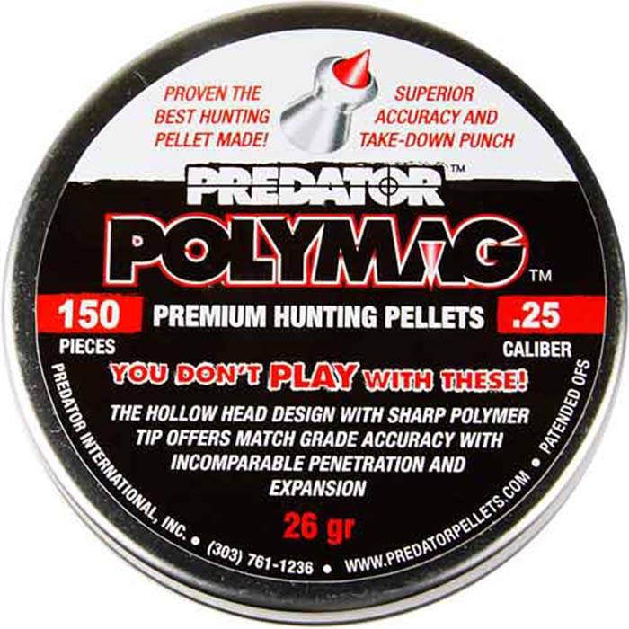 Predator Polymag .25 Cal, 25.39 gr - 150 ct