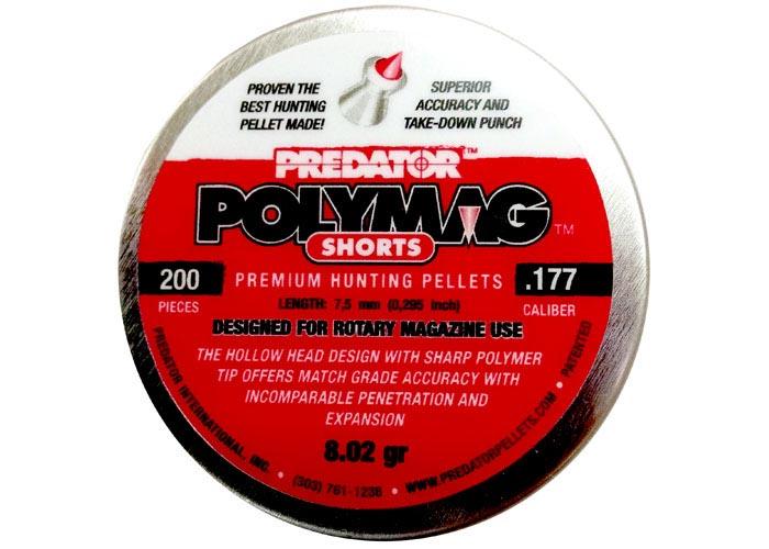 Predator Polymag Shorts .177, 8.0 gr - 200 ct