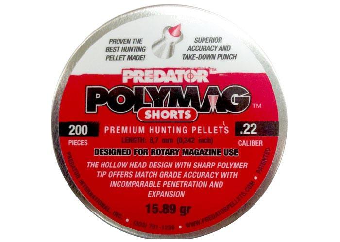 Predator Polymag Shorts .22 Cal, 15.89 gr - 200 ct