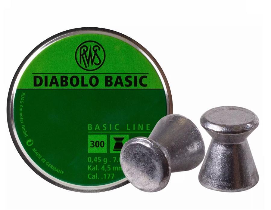 RWS Diabolo Basic .177 Cal, 7.0 gr - 300 ct