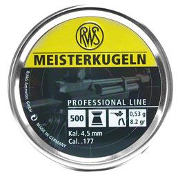 RWS Meisterkugeln .177 Cal, 8.2 gr  - 500 ct
