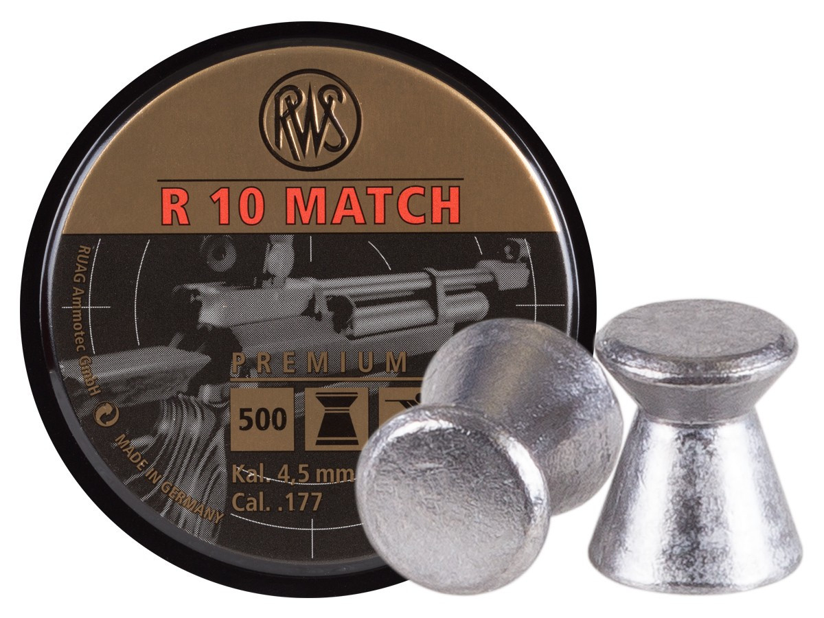 RWS R10 Match Heavy .177 Cal, 8.2 gr - 500 ct