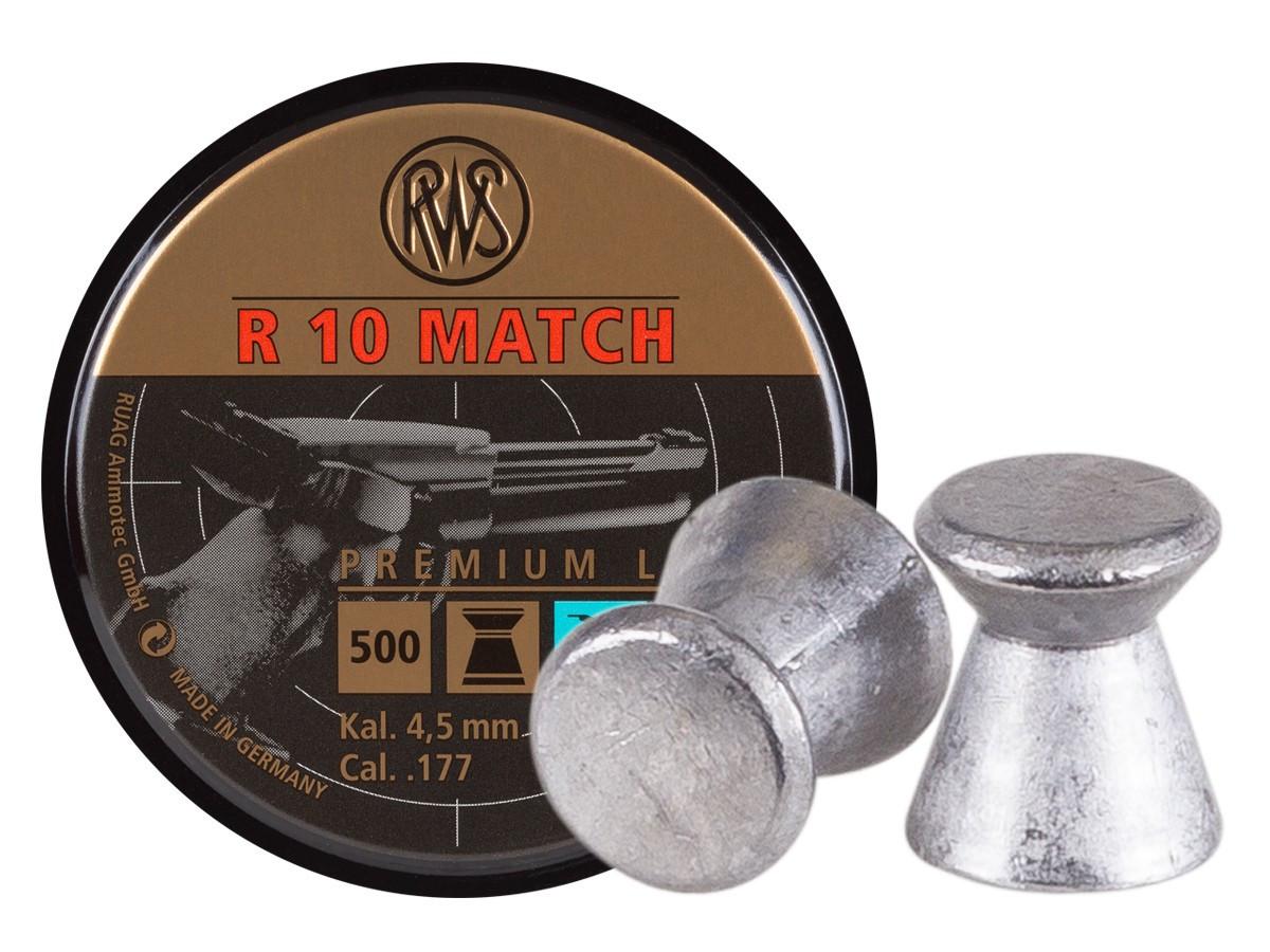 RWS R10 Match .177 Cal, 7.0 gr - 500 ct