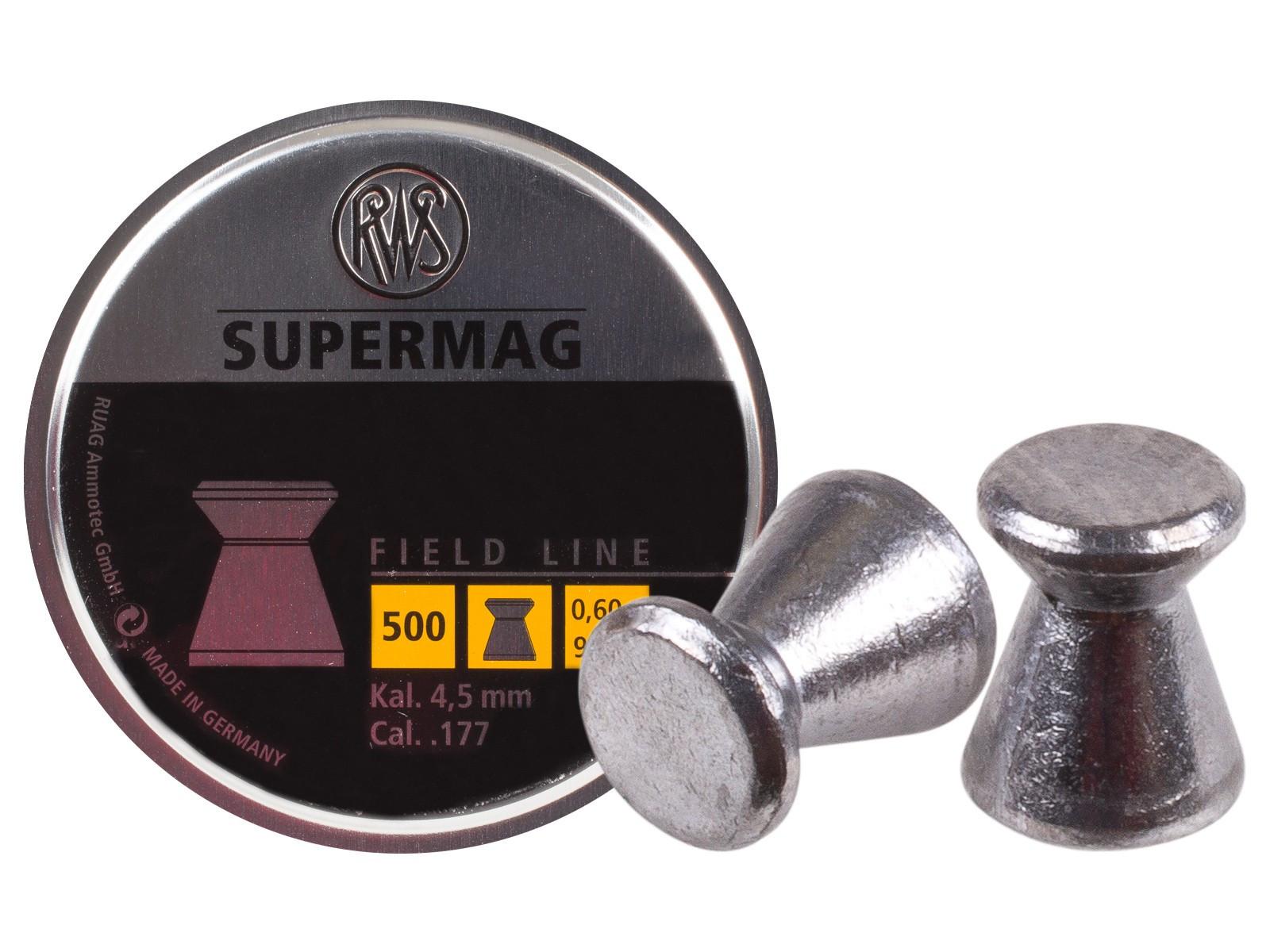 RWS SUPERMAG .177 Cal, 9.3 gr - 500 ct