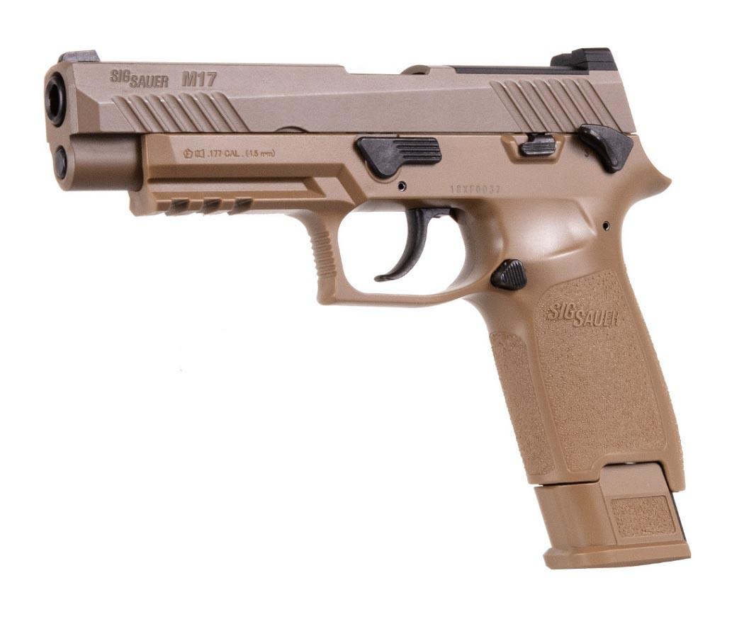 SIG Sauer M17 Pellet Pistol, Coyote Tan