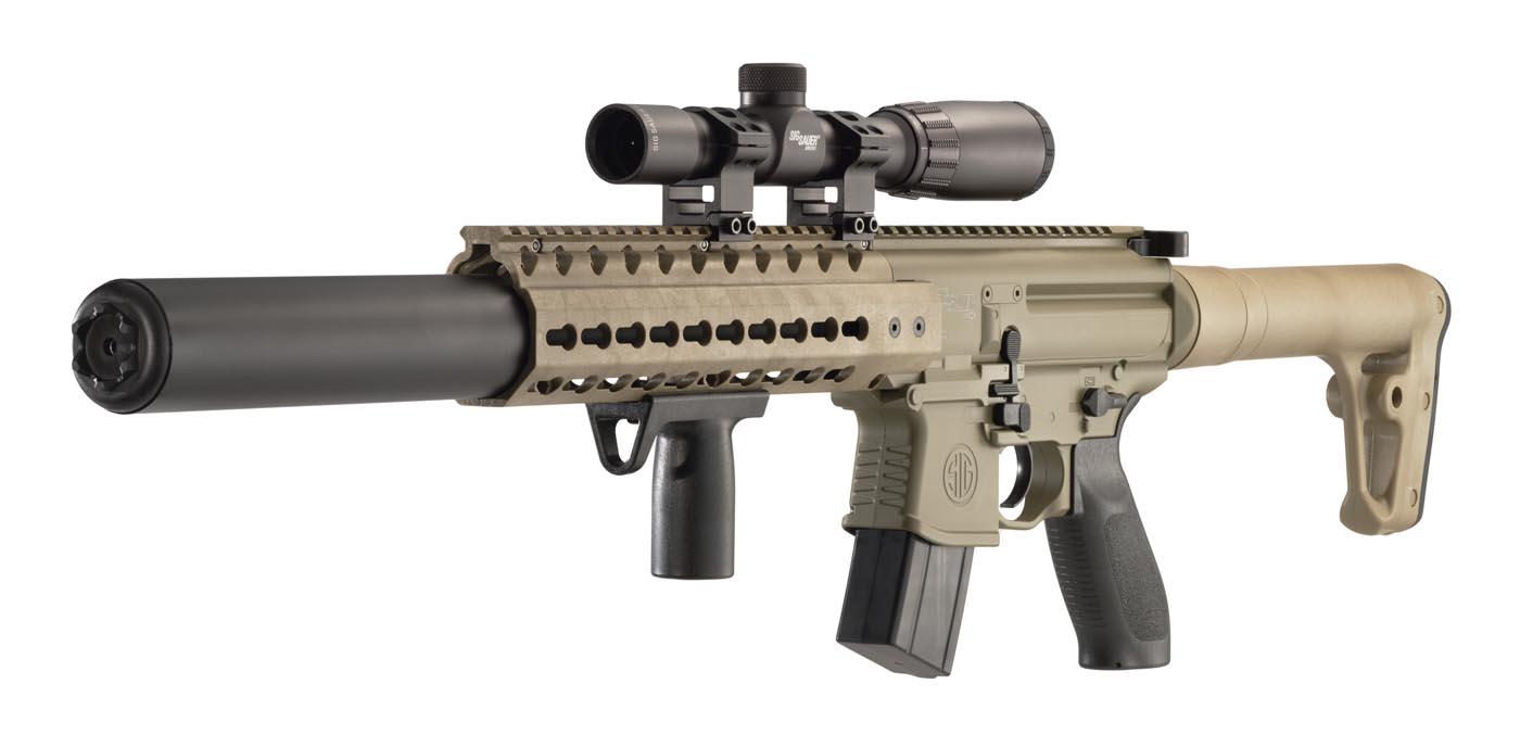 Sig Sauer Mcx Scope Combo Flat Dark Earth Co2 Air Rifle Airgun Depot