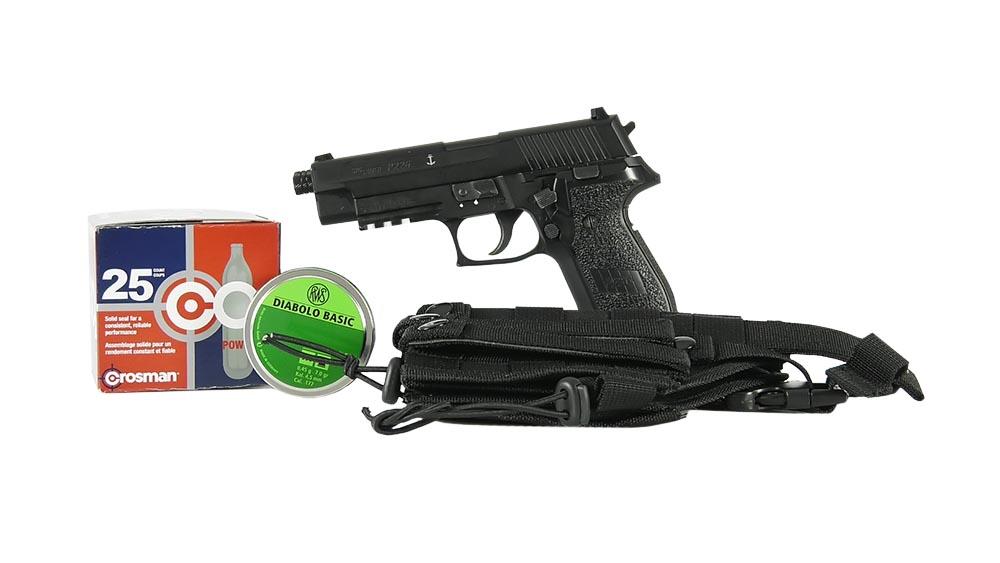 SIG Sauer P226 Pellet Pistol Essentials Combo, Black