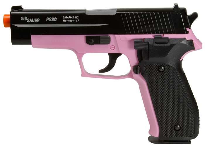 SIG Sauer P226 Airsoft Pistol, Pink