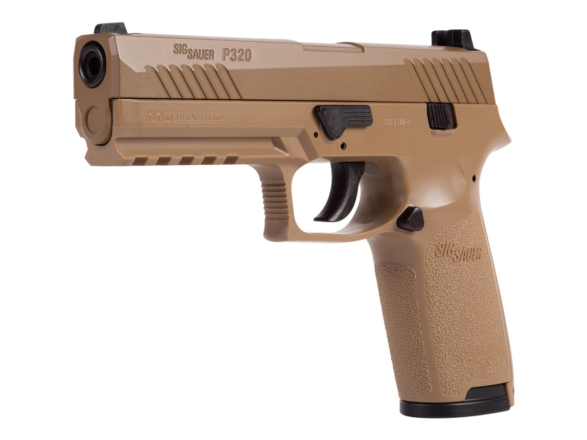 SIG Sauer P320 Pellet Pistol, Coyote Tan