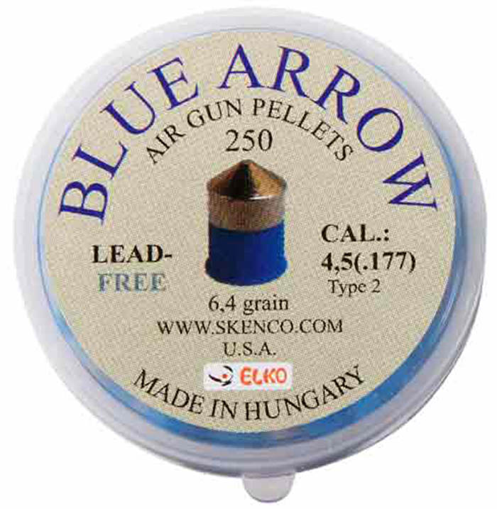 Skenco Blue Arrow .177 Cal, 6.4 gr - 250 ct