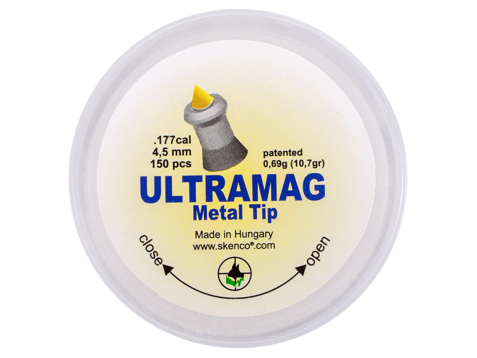 Skenco UltraMag Metal Tip .177 Cal, 10.7 gr - 150 ct