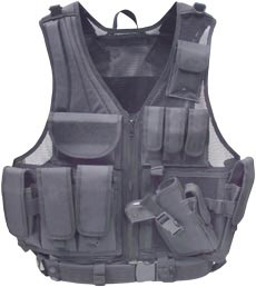UTG Airsoft Deluxe Tactical Vest, Black