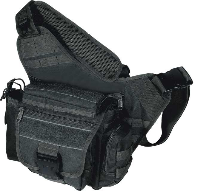 UTG Black Tactical Multi-Functional Messenger Bag