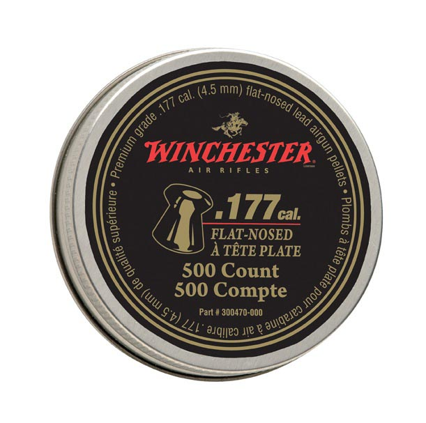 Winchester Flat-Nosed .177 Cal, 9.71 gr - 500 ct
