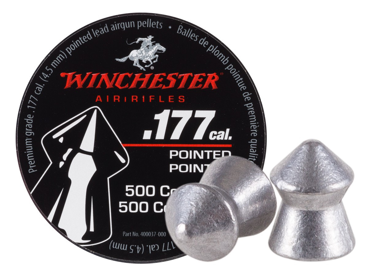 Winchester Pointed .177 Cal, 9.68 gr - 500 ct