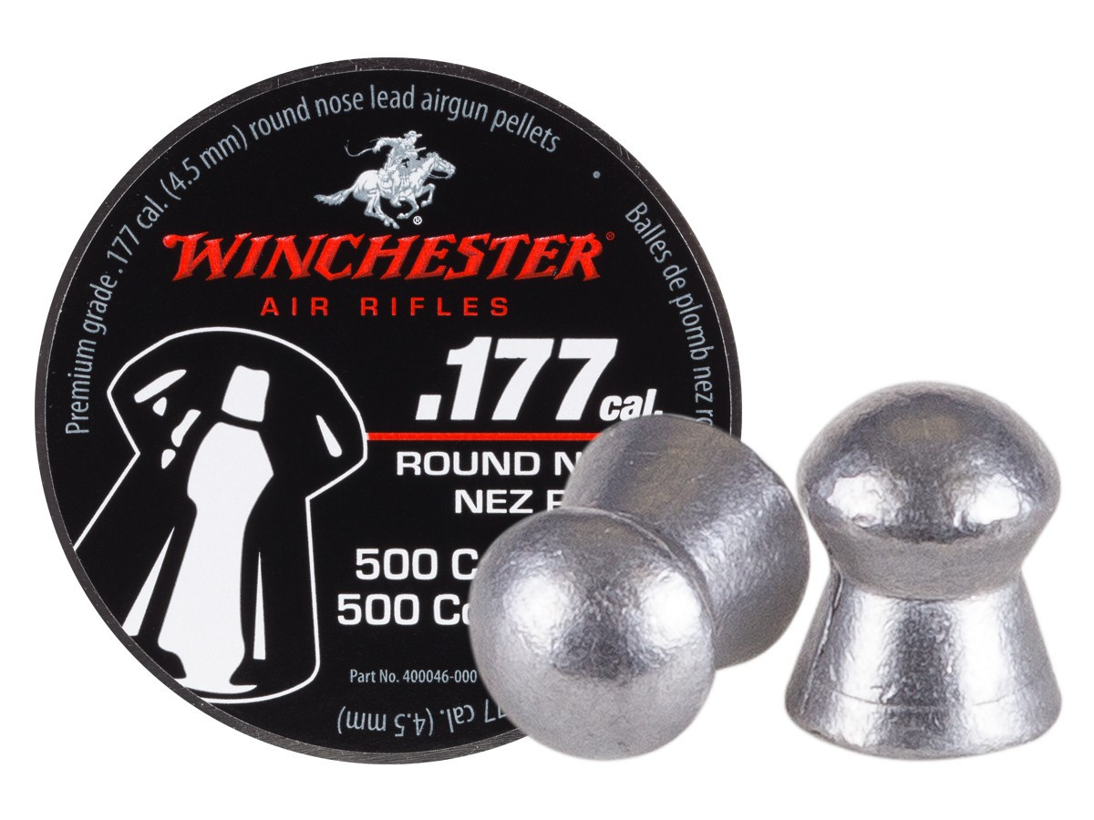 Winchester Round Nose .177 Cal, 9.8 gr - 500 ct